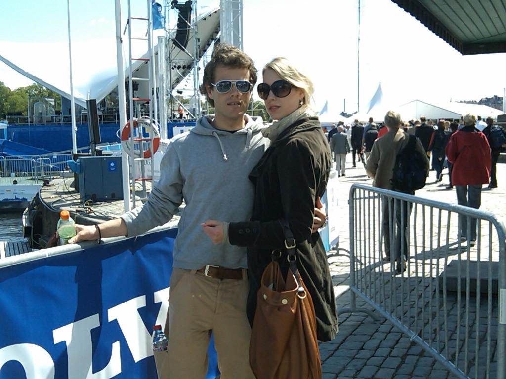 Diva's J., Mitzy en ik bij Volvo Ocean Race