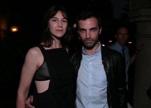 Charlotte Gainsbourg and Nicolas Ghesquiere