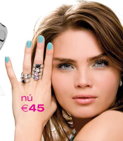 Ook is Kim het gezicht van sieraden mer Zinzi, waarvan de ringen Nu €45 euro zijn!